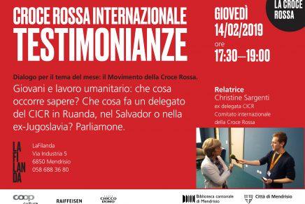 Intervista a Christine Sargenti – Ex Delegata CICR della Croce Rossa – La Filanda – 14-02-2019