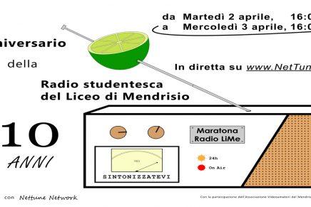 Anniversario LiMe – 10 Anni 2009/2019 – Maratona Radio LiMe 24h